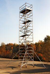 wieża aluminiowa